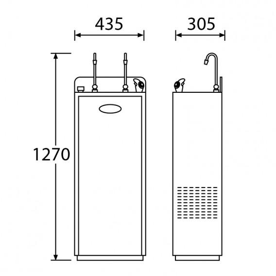 Dimensiones fuente de agua para oficina ósmosis inversa Victoria