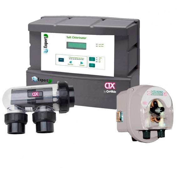 Clorador salino Salt Expert CTX + bomba pH E-Series