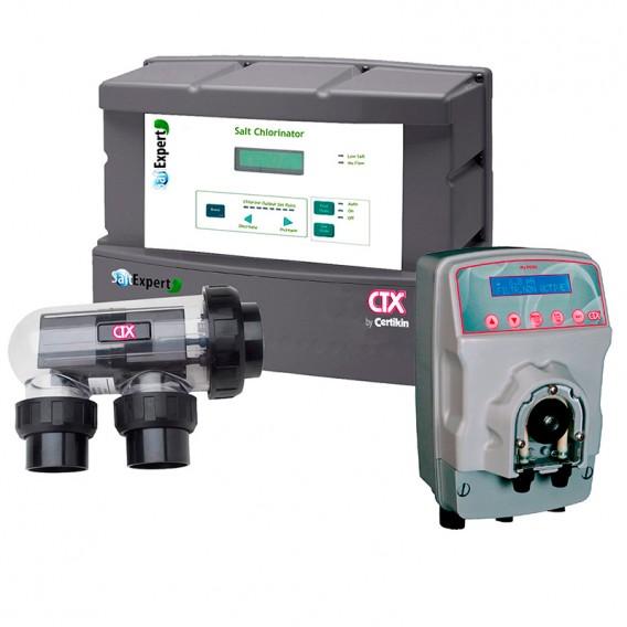 Clorador salino Salt Expert CTX + bomba pH MyPool