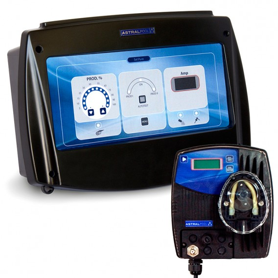 Clorador salino Sel Pure AstralPool + bomba pH Control Basic Next