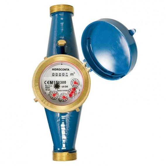 Contador chorro múltiple metálico agua potable Hidroconta Hidrojet