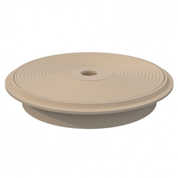 Tapa y aro circular skimmer 15 l AstralPool beige