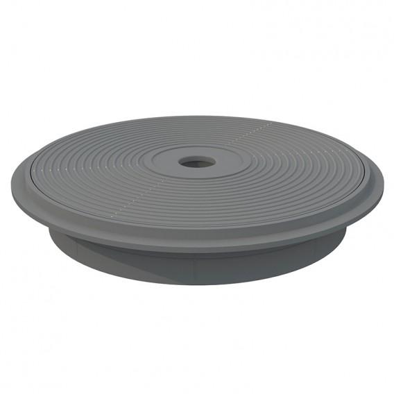 Tapa y aro circular skimmer 15 l AstralPool gris claro