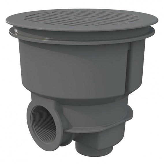 Sumidero Norm ABS rejilla plana piscina hormigón AstralPool gris claro