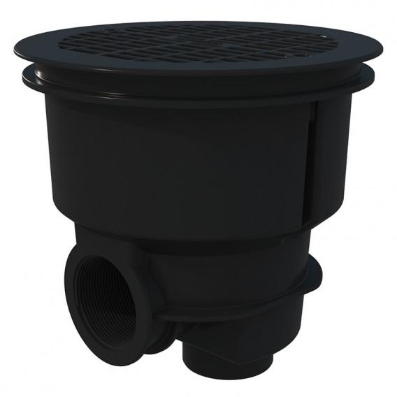 Sumidero Norm ABS rejilla plana piscina hormigón AstralPool gris antracita