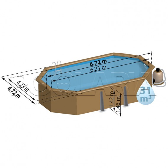 Dimensiones piscina Gre Sunbay Vermela 790098