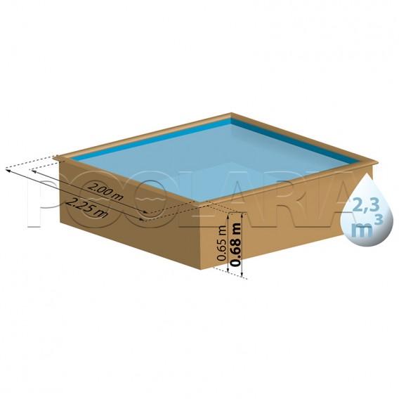 Dimensiones piscina Gre Sunbay City 790000