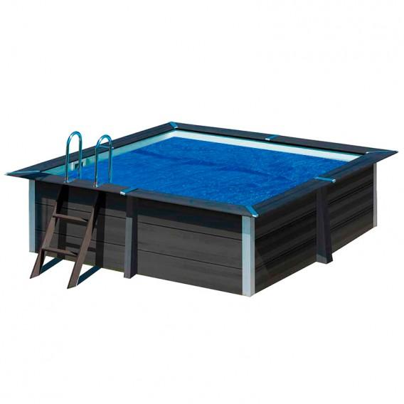 Cubierta isotérmica piscina composite Gre cuadrada