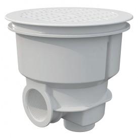 Sumidero Norm ABS rejilla plana piscina hormigón AstralPool blanco