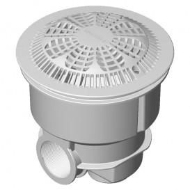 Sumidero Norm ABS rejilla antivortex piscina hormigón AstralPool blanco