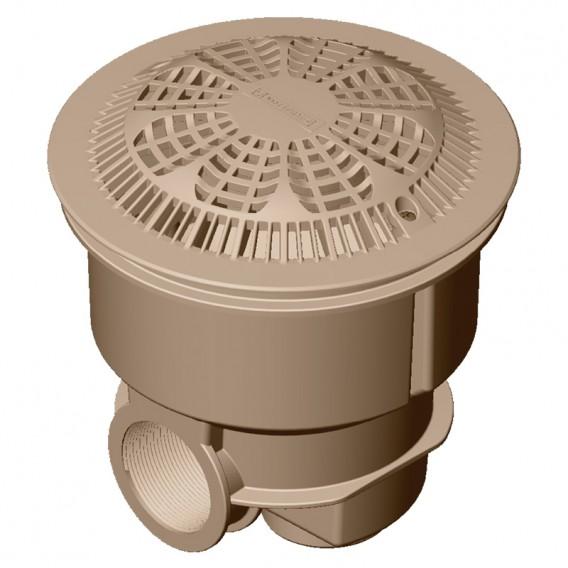 Sumidero Norm ABS rejilla antivortex piscina hormigón AstralPool beige