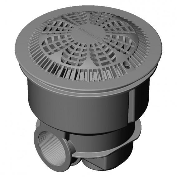 Sumidero Norm ABS rejilla antivortex piscina hormigón AstralPool gris claro