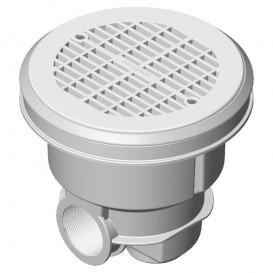 Sumidero Norm ABS rejilla plana piscina liner y prefabricada AstralPool blanco