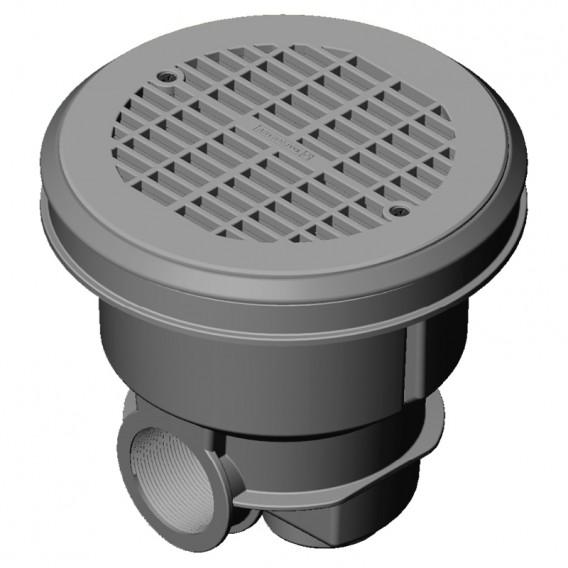 Sumidero Norm ABS rejilla plana piscina liner y prefabricada AstralPool gris claro