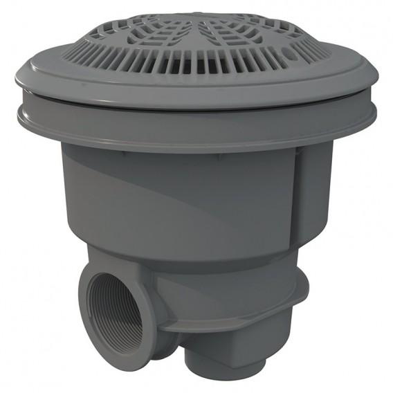 Sumidero Norm ABS rejilla antivortex piscina liner y prefabricada AstralPool gris claro