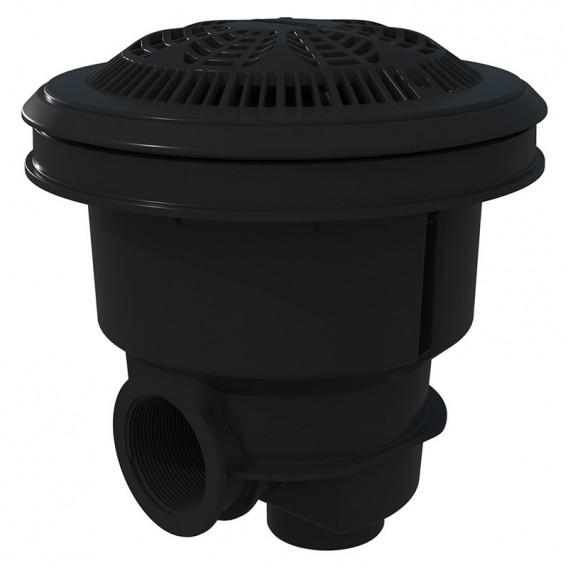 Sumidero Norm ABS rejilla antivortex piscina liner y prefabricada AstralPool gris antracita