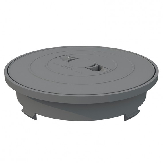 Aro y tapa circular skimmer 17,5 litros AstralPool gris claro