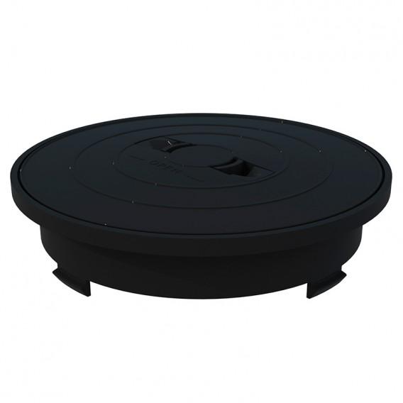 Aro y tapa circular skimmer 17,5 litros AstralPool gris antracita