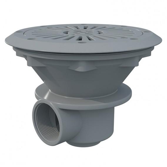 Sumidero Ø 210 mm con rejilla ABS AstralPool gris claro
