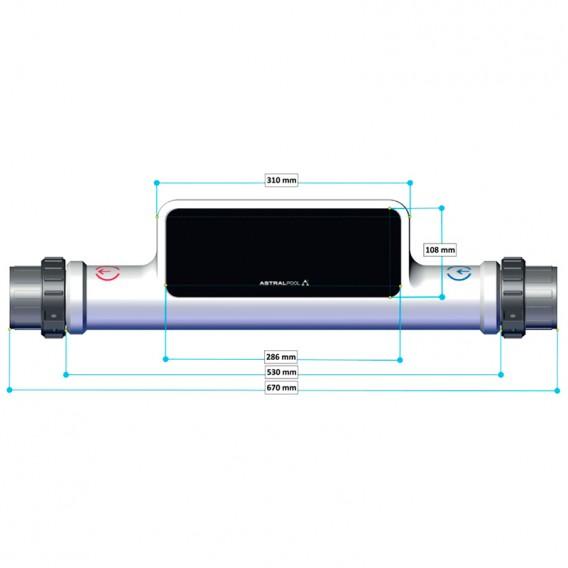 Dimensiones Eco Compact ElectricHeat AstralPool