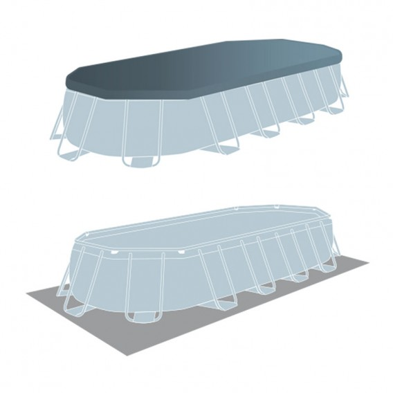 Cobertor y tapiz de suelo piscina Intex Prisma Frame Oval 26798NP