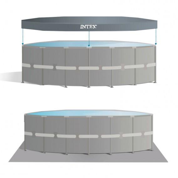 Cobertor y tapiz de suelo piscina Intex Ultra XTR Frame 26334NP
