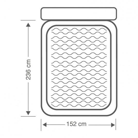Colchón hinchable con cabecero Intex 64448