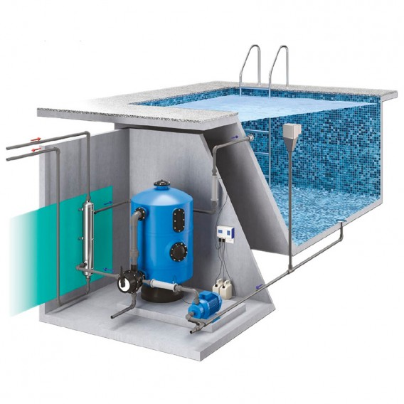 Esquema instalación AstralPool Waterheat Evo
