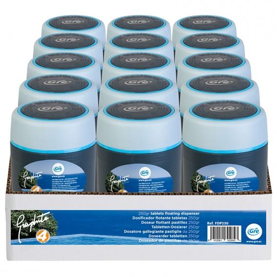 Dosificador de cloro flotante 250g Graphite Gre FDP250