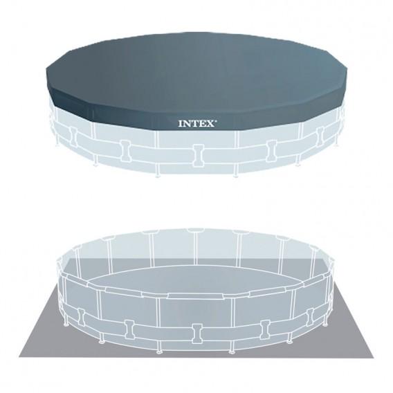 Cobertor y tapiz de suelo piscina Intex Prisma Frame 26726NP