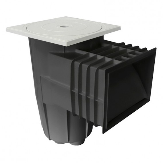 Skimmer tapa cuadrada hormigón AstralPool gris antracita