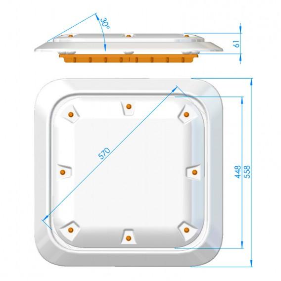 Dimensiones tapa antivortex extraplana 28556 AstralPool