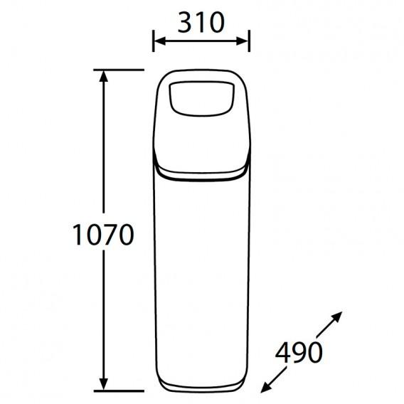 Dimensiones descalcificador de agua Sigma K5