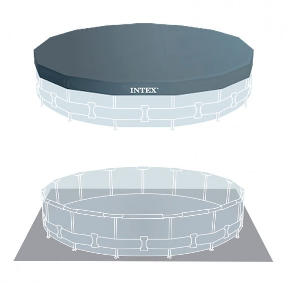 Cobertor y tapiz de suelo piscina Intex Prisma Frame 26724NP