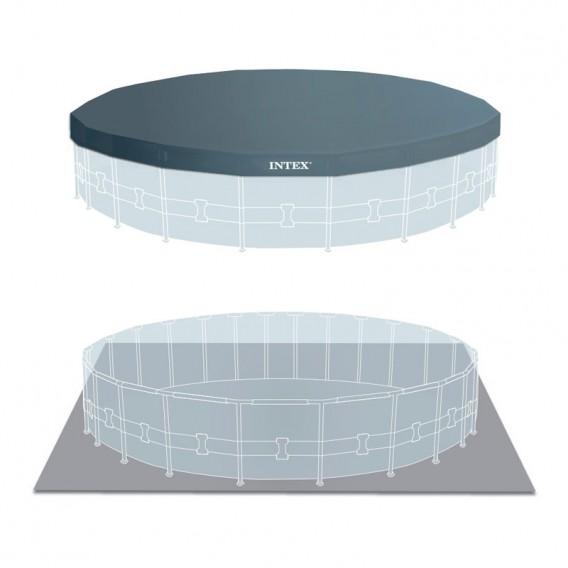 Cobertor y tapiz de suelo piscina Intex Prisma Frame 26732NP