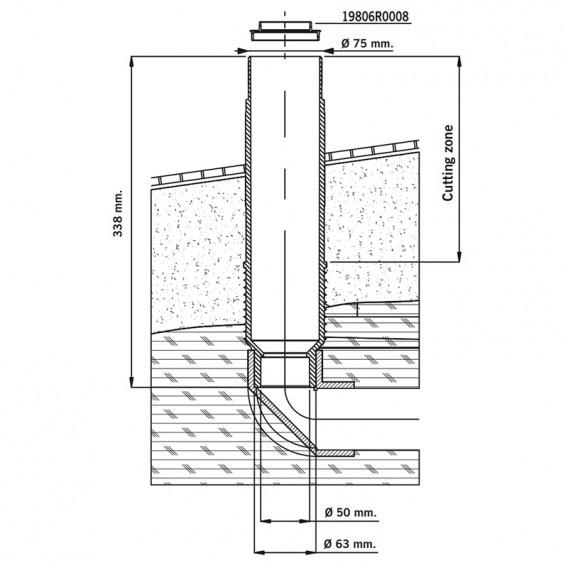 Instalación pasamuros boquilla fondo oscilante Net'n'Clean AstralPool