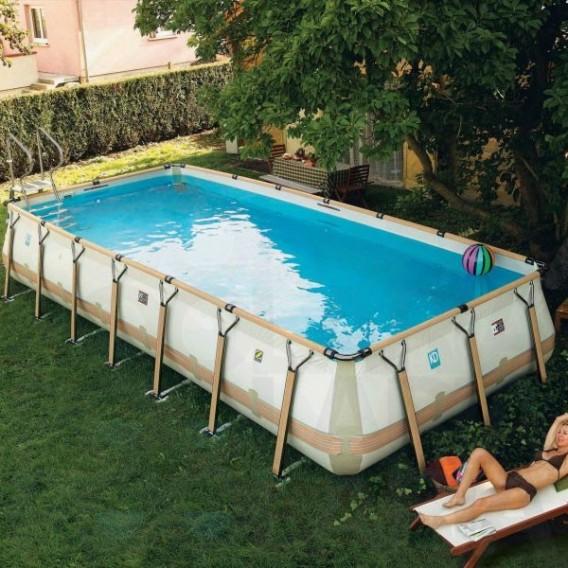 Piscina zodiac kd teck v2 rectangular poolaria for Complementos piscinas desmontables