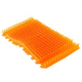 Cepillo combinado naranja PVC Dolphin sin anillo 6101543