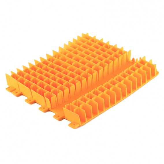 Cepillo combinado naranja PVC Dolphin 1 mitad sin anillo 6101647