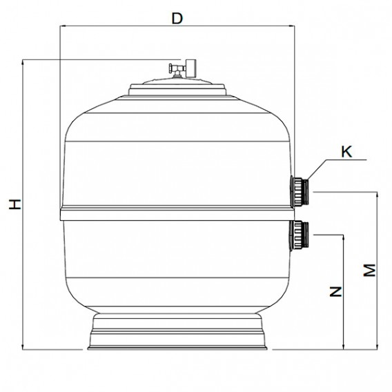 Dimensiones filtro UVE AstralPool