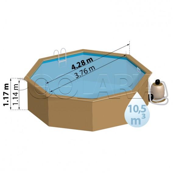 Dimensiones piscina Gre Sunbay Ananas 790210