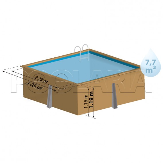 Dimensiones piscina Gre Sunbay Carra 790205