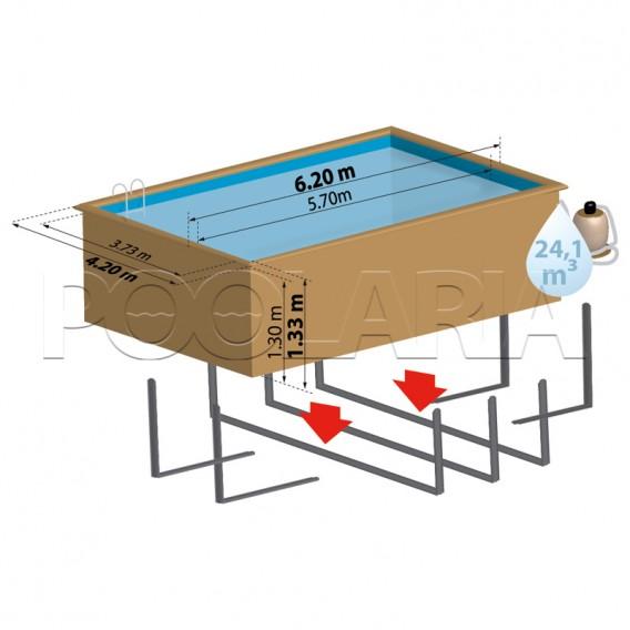 Dimensiones piscina Gre Sunbay Evora 790206