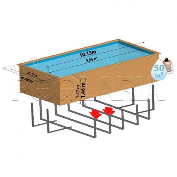 Dimensiones piscina Gre Sunbay Mint 788032