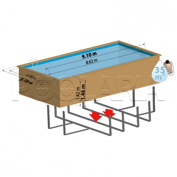 Dimensiones piscina Gre Sunbay Anise 788031