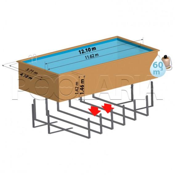 Dimensiones piscina Gre Sunbay Cardamon 788033