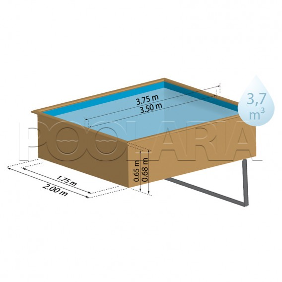 Dimensiones piscina de madera Gre Sunbay Lemon 790204