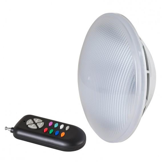 Lámpara LED PAR56 RGB + mando by Poolaria