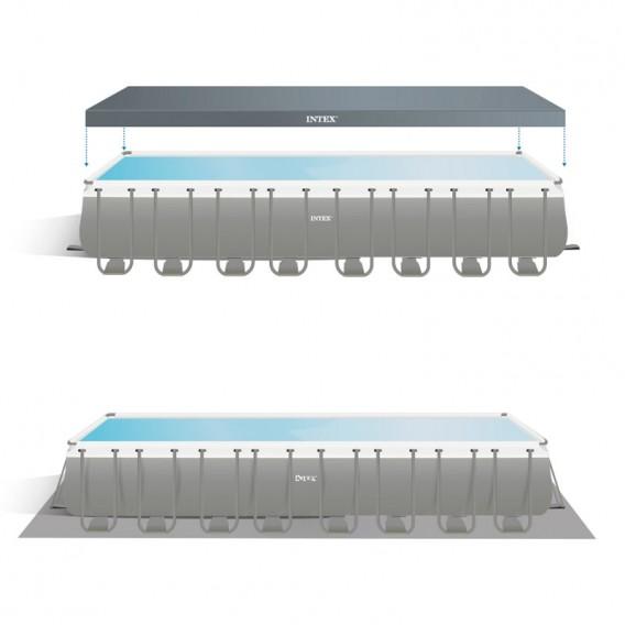 Cobertor y tapiz de suelo piscina Intex Ultra XTR Frame 26374NP