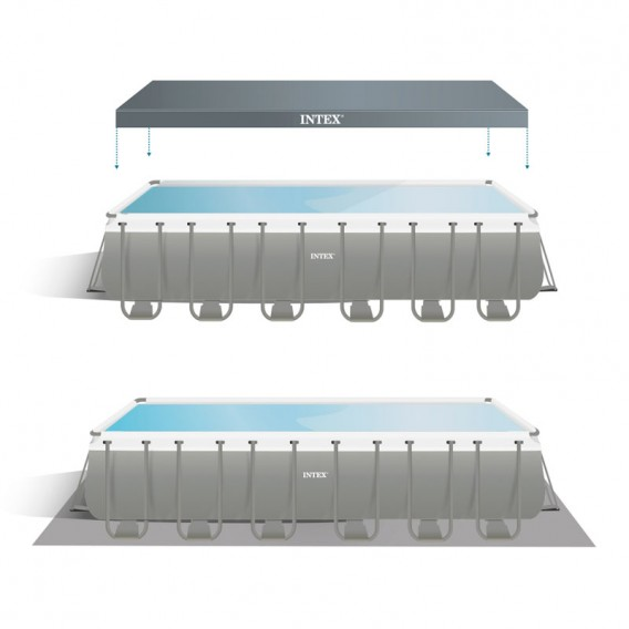 Cobertor y tapiz de suelo piscina Intex Ultra XTR Frame 26364NP